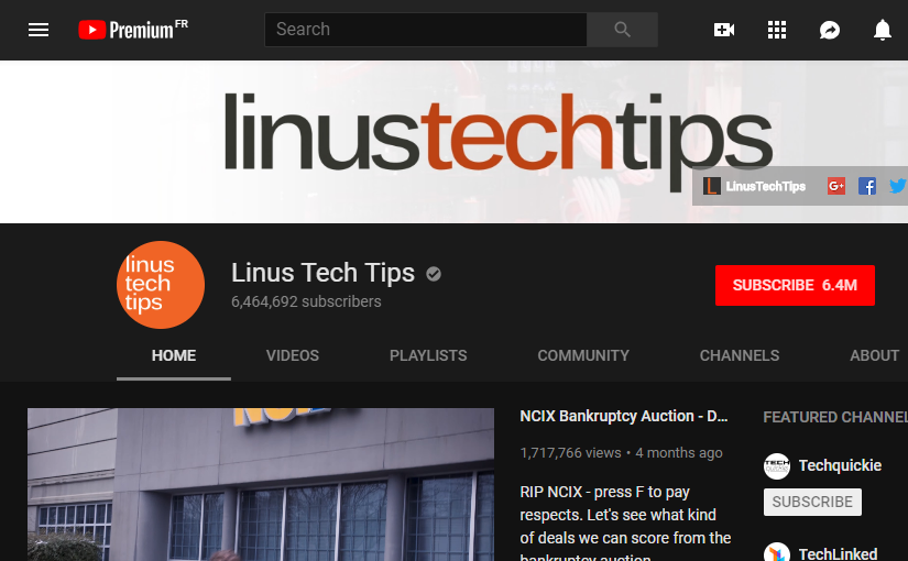 I have unsubscribed from LinusTechTips